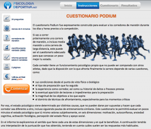Cuestionario PODIUM para corredores de maratón